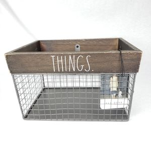 NEW Rae Dunn THINGS Wire Storage Basket